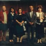 1992 Atatürk Oratoryosu Provası Sedat Öztoprak, Erol Uras, Işın Güyer, Leyla Demiriş, Nevit Kodallı, Gökçen Koray, Hikmet Şimşek